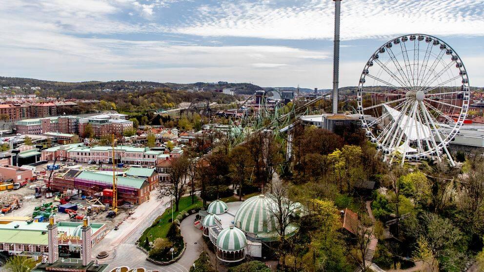 Liseberg är en av de nöjesparker som håller stängt i sommar. Bilden visar Liseberg från ovan.