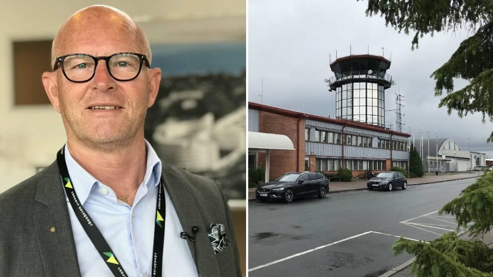 Vd Rony Forsberg och Jönköping airport.