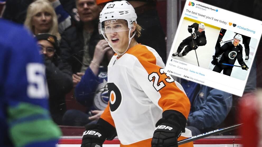 Oskar Lindblom är tillbaka på is.