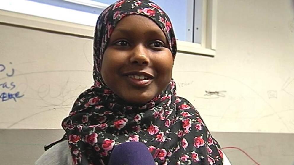 Shahda Musse, elev på Sjumilaskolan