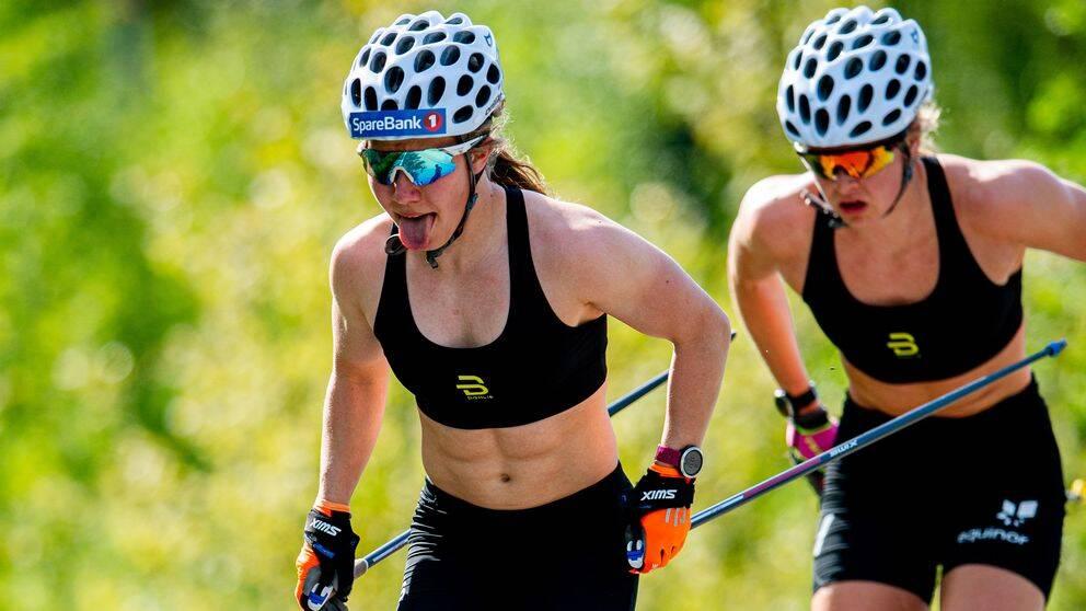 Helene Marie Fossesholm under ett träningspass i början av juni i Oslo.