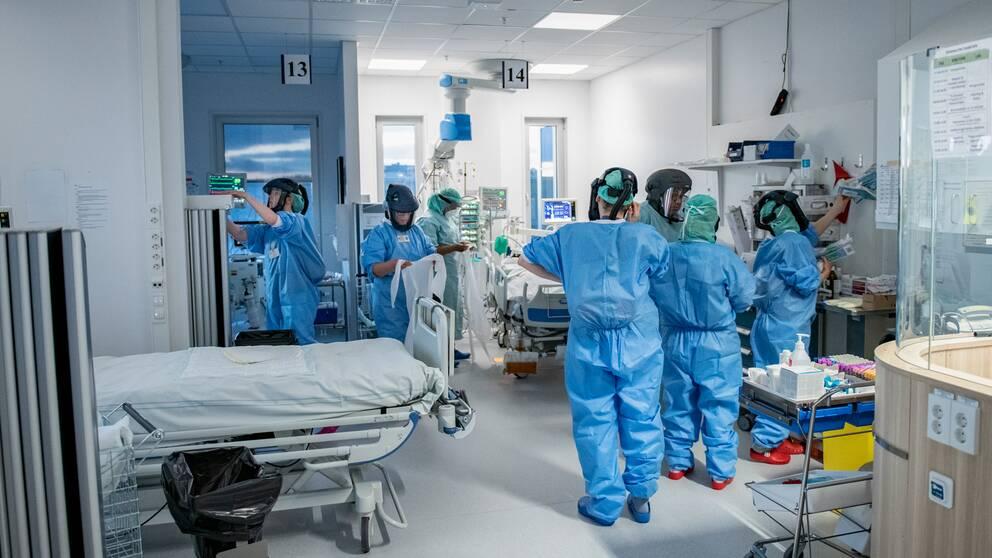 IVA på Södertälje sjukhus.