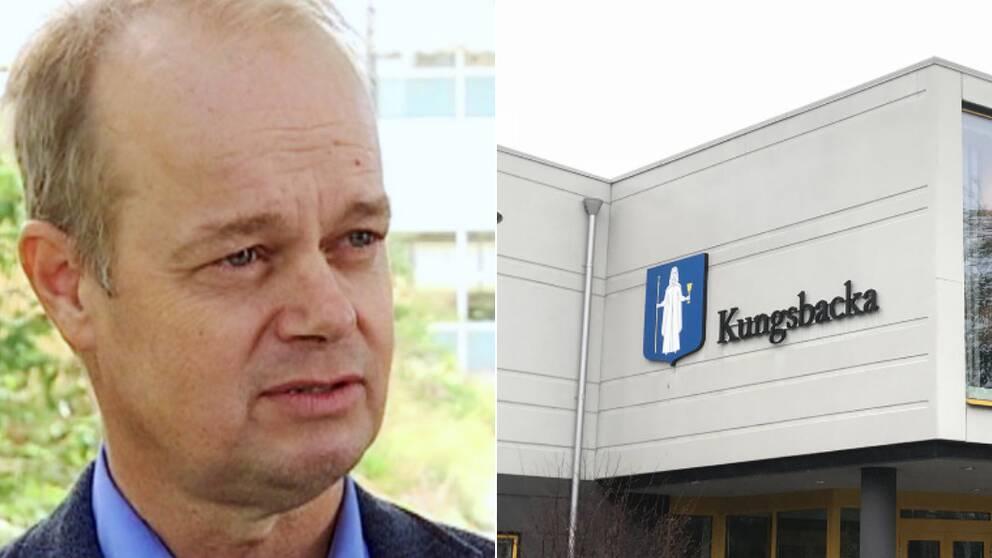 Hans Forsberg och kommunhuset i Kungsbacka
