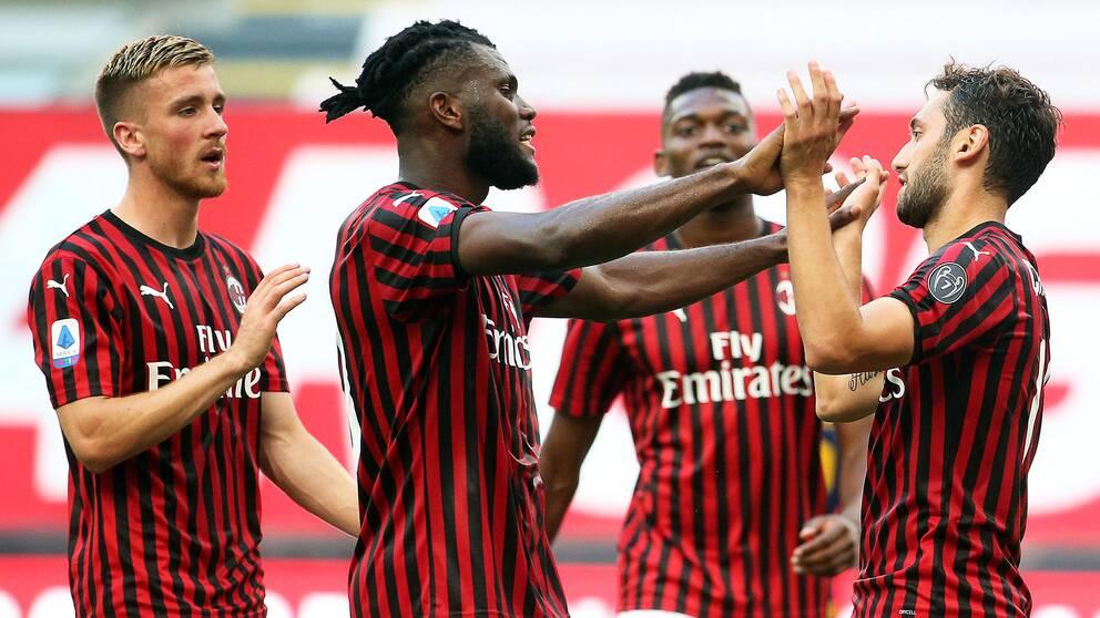 Milan vann mot Roma utan Zlatan