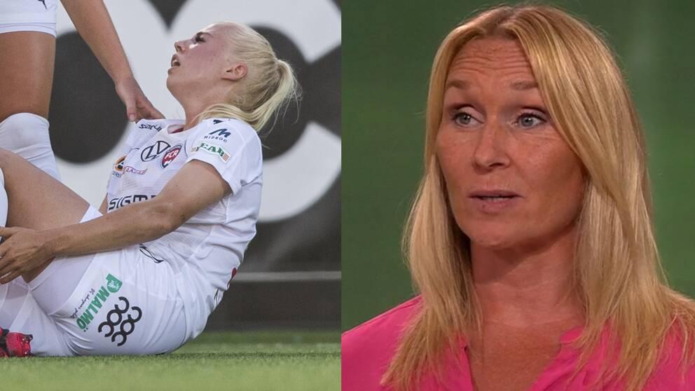 Frida Östberg säger att Rosengårds guld kan försvinna om laget drabbas av skador.