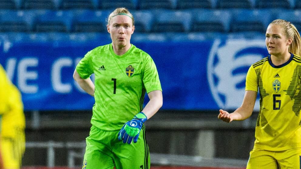 Målvakten Hedvig Lindahl under Algarve Cup i Portugal den 10e mars
