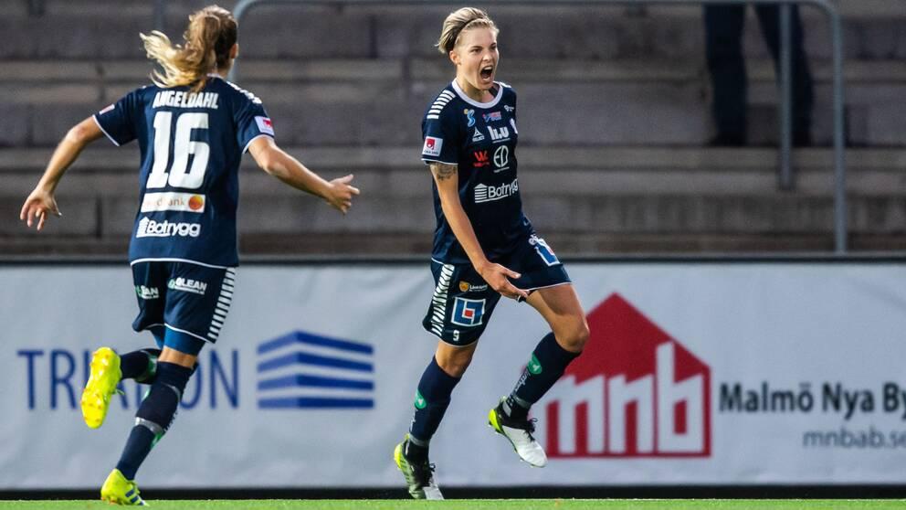 Lina Hurtig närmar sig spel efter knäskadan.