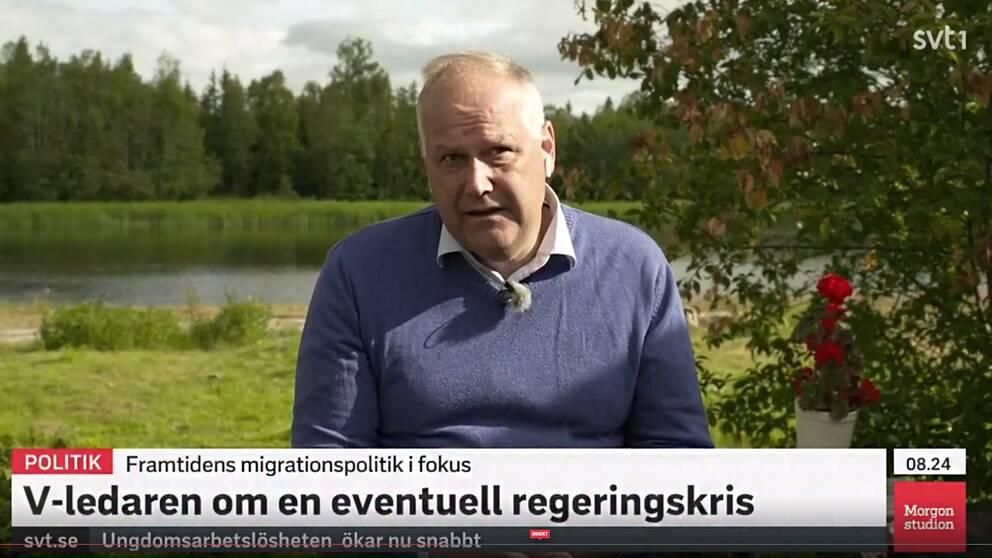 Jonas Sjöstedt intervjuas i Morgonstudion 1/7