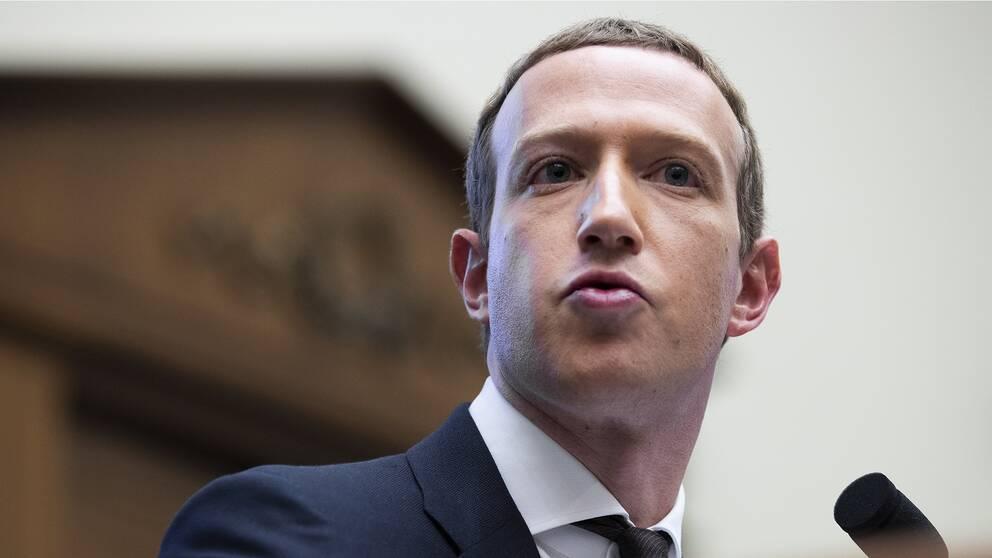 Mark Zuckerberg vid ett kongressförhör.