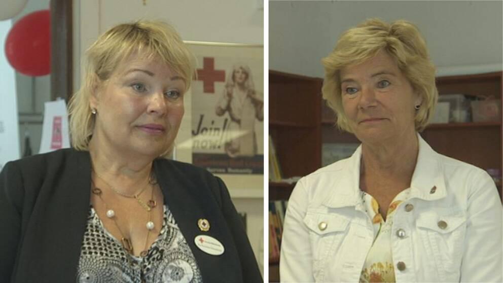 Tvp porträttbilder. Ena på Katarina Löwenbrink och den andra på Maria Larsson.