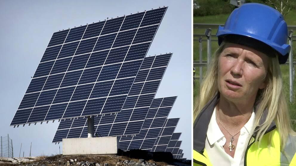Susanne Malm är vd för Leva i Lysekil – ett av många företag som tagit del av investeringsstödet för att bygga en solcellspark