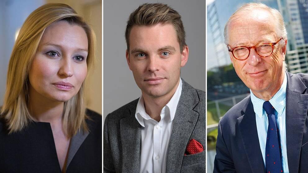Ebba Busch-Thor (KD), Hans Linde (V), Gunnar Hökmark (M).