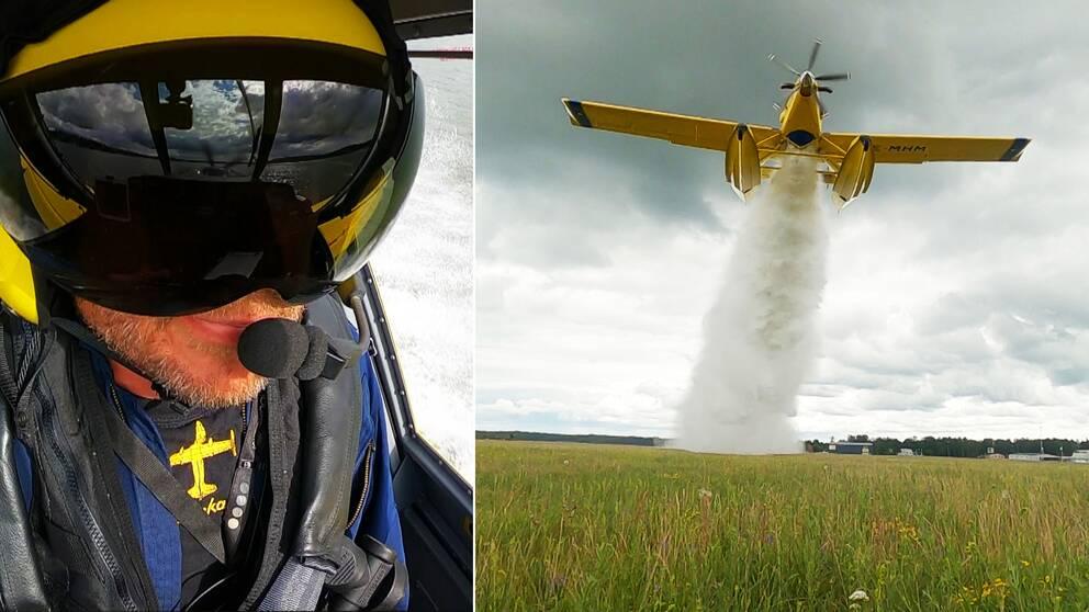 Här träningsflyger piloterna med de nya planen.