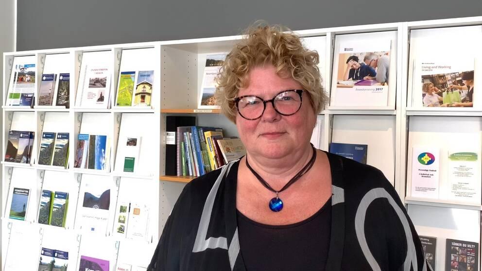Porträtt på Inger Bergström, socialchef i Kramfors kommun