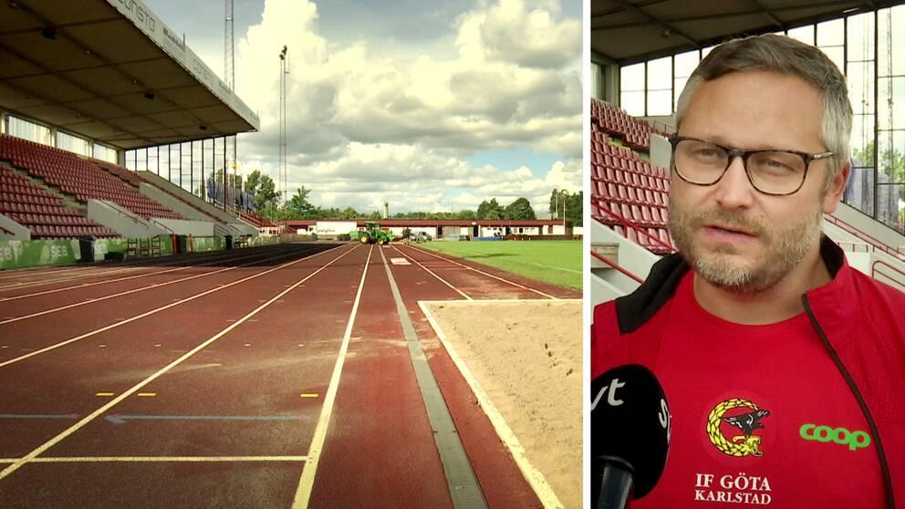 På Tingvalla IP är förberedelserna i full gång, och Johan Engberg från arrangören IF Göta i Karlstad hoppas på nya världsrekord.