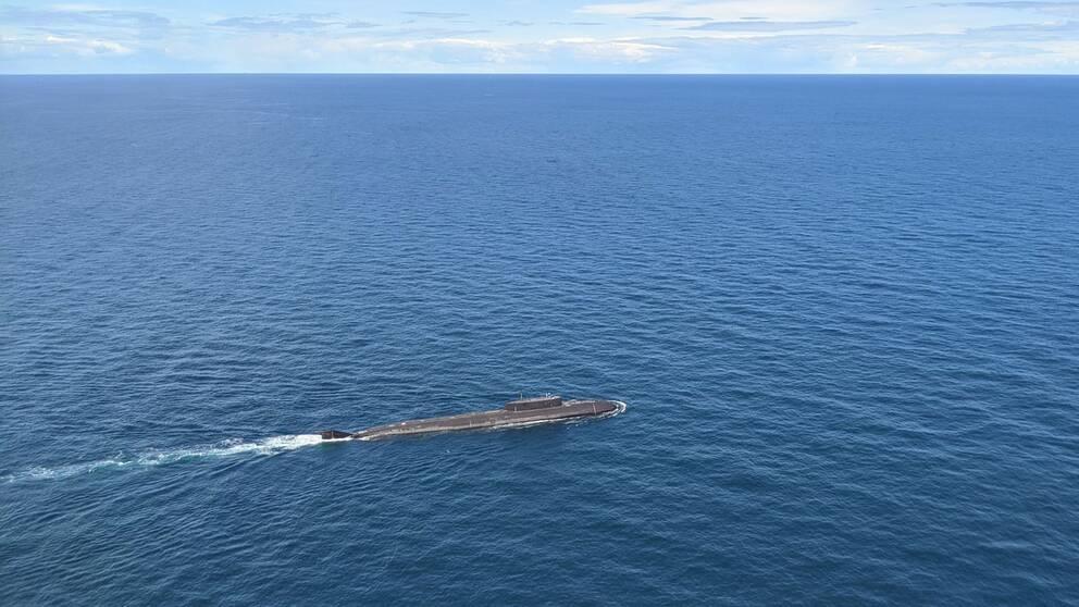En rysk Oscar II atomdriven ubåt har kapacitet för 24 kryssningsrobotar och kärnvapentorpeder.