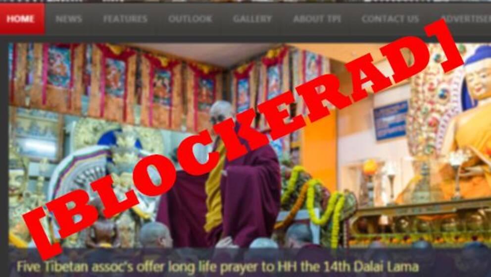 The Tibet Post är en av sajterna som blockerats (montage).