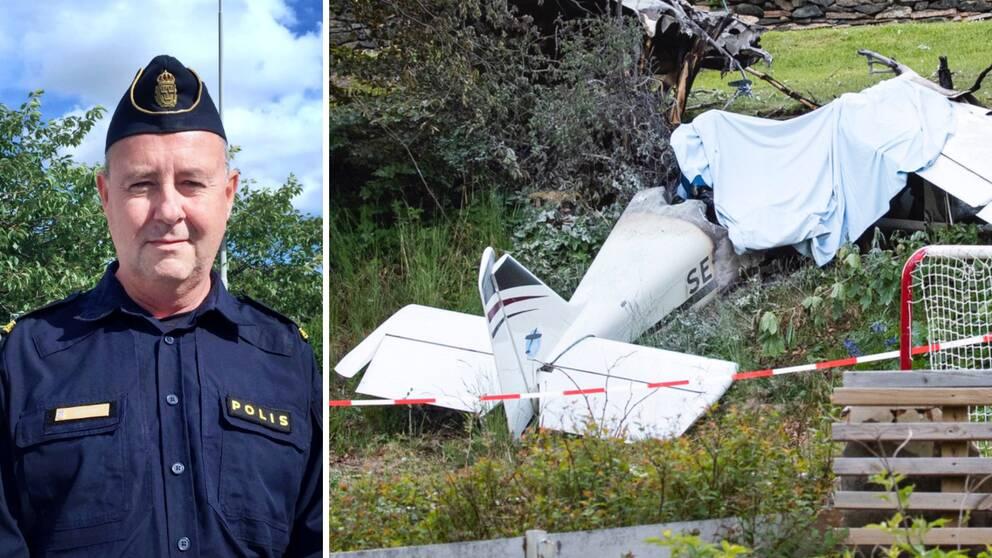"""Peter Novén, förundersökningsledare vid trafikpolisen i Göteborg, konstaterar att flygplanet flög """"för sakta och för lågt"""" innan det kraschade i Ekås utanför Borås i början av sommaren."""
