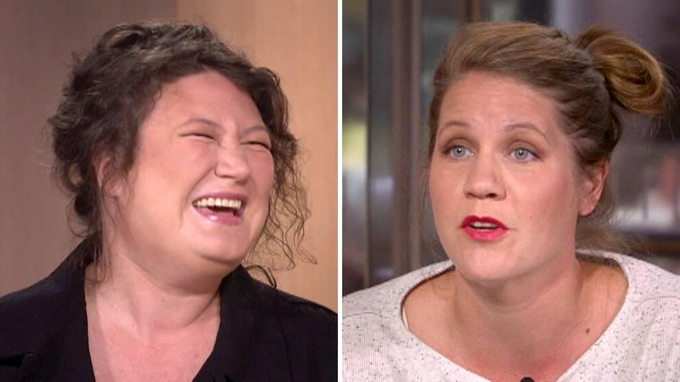 Ina Lundström och Emma Knyckare är två av hjärnorna bakom och rösterna i podcasten Flashback forever