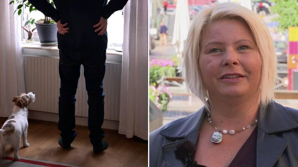 Janicke Andersson har varit med och gjort studien om 70-plussare och hur de har påverkats av coronarekommendationerna. I klippet berättar hon att många har reagerat starkt på rekommendationerna och att bli utpekade som riskgrupp.