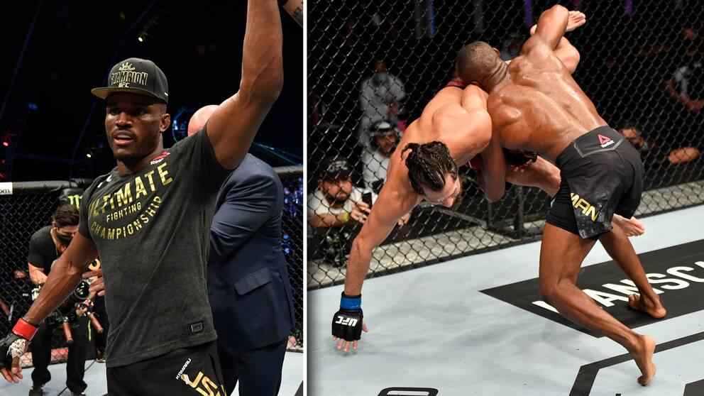 Mästaren Kamaru Usman vann nattens stora titelmatch i UFC i weltervikt mot Jorge Masvidal.