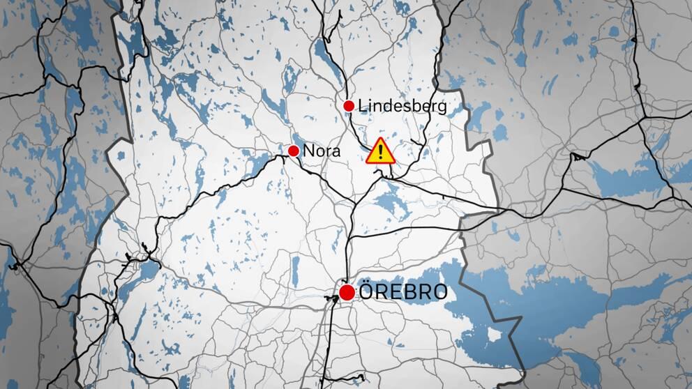 Olyckan inträffade utanför Vedevåg, i Lindesbergs kommun.