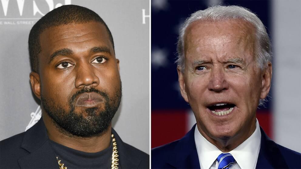 Kanye West och Joe Biden.