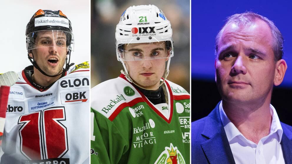 Mathias Bromé, Nils Höglander och Johan Hemlin.