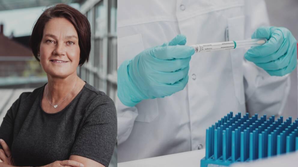 Anne Kihlgren, vd för analysföretaget Dynamic Code och provtagningspersonal