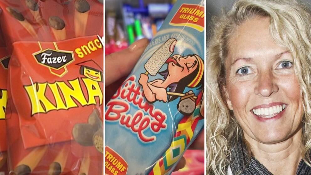 """Godiset """"Kinapuffar"""" plockades bort efter kritik, nu ifrågasätts även Triumf Glass """"Sitting Bull"""" – Eva Ossiansson vid Handelshögskolan i Göteborg upplever att medvetandet har ökat hos konsumenter."""
