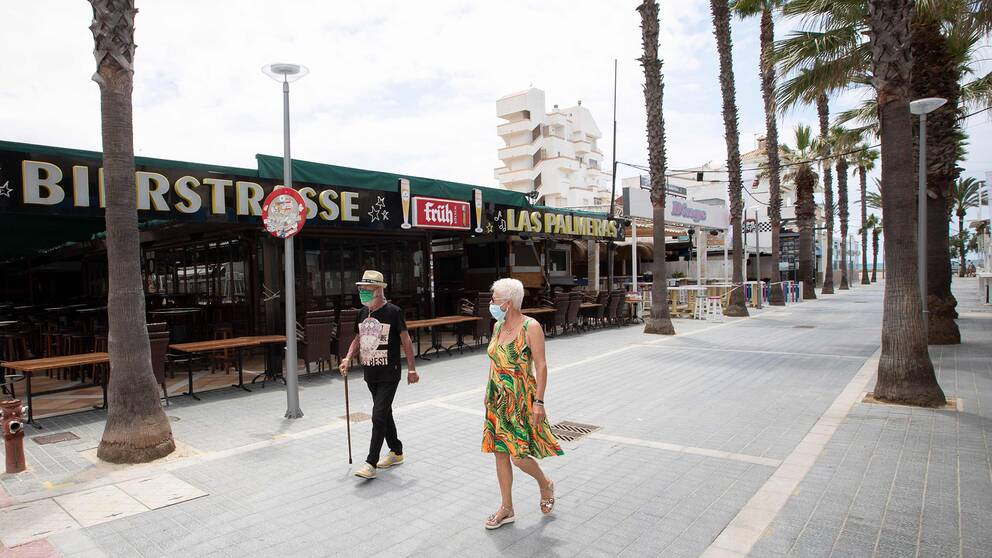 Turister i Palma de Mallorca.