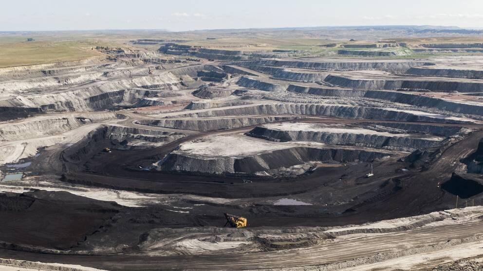 En kolgruva i Wyoming, USA.