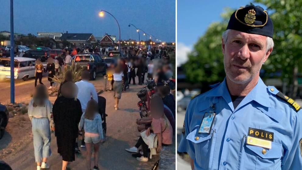 Lokalpolisområdeschef Christer Bartholdsson är kritisk till hur folk betedde sig i centrala Falkenberg i helgen.