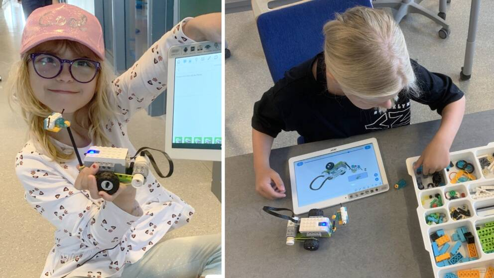 Technology-interested 7 to 13-year-olds in Falkenberg take a technology course at Komtek and learn how to build inventions with the help of Lego.