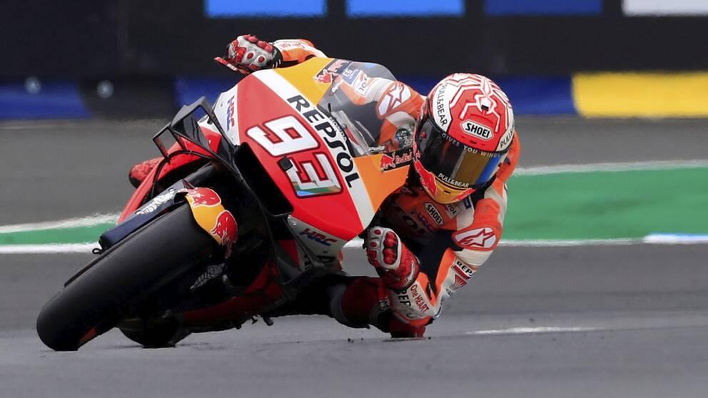 Marquez under en MotoGP-tävling