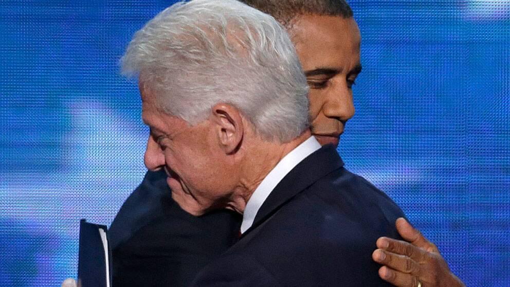 Bill Clinton och Barack Obama. Foto: Scanpix