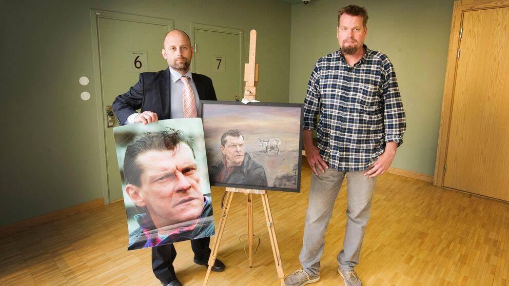 Fotografen Jonas Lemberg till vänster och konstnären Markus Andersson till höger.