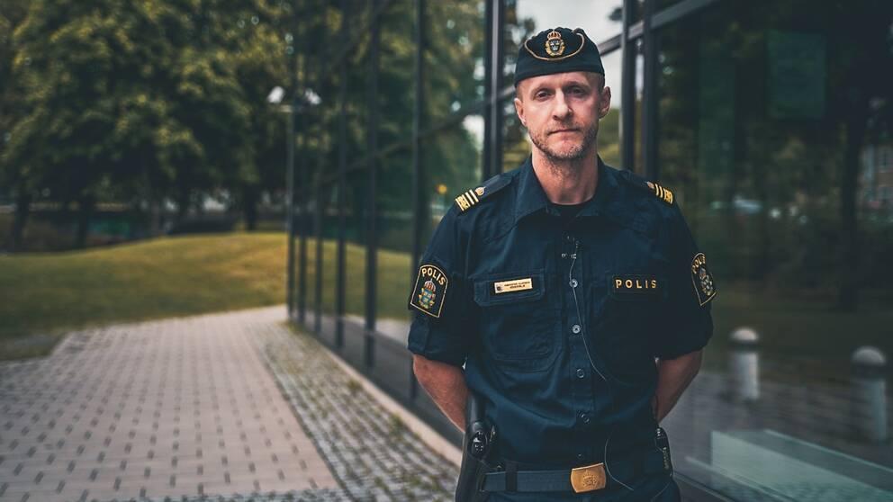 Kristoffer Olofsson, tillförordnad lokalpolisområdeschef