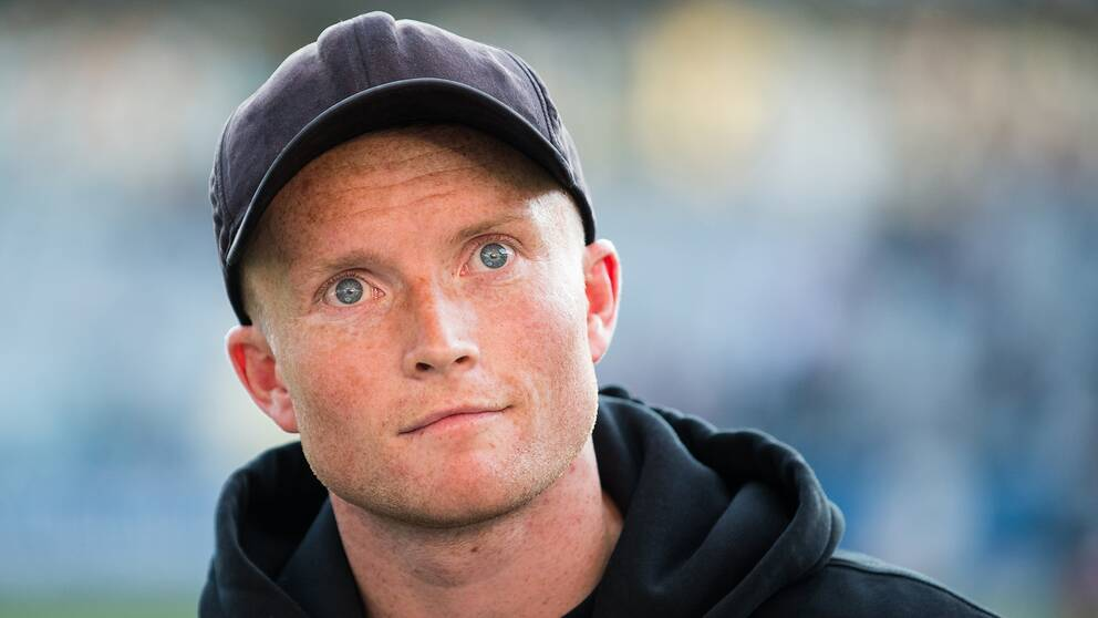 Sam Larsson på plats under en allsvensk match i maj 2019. Arkivbild.