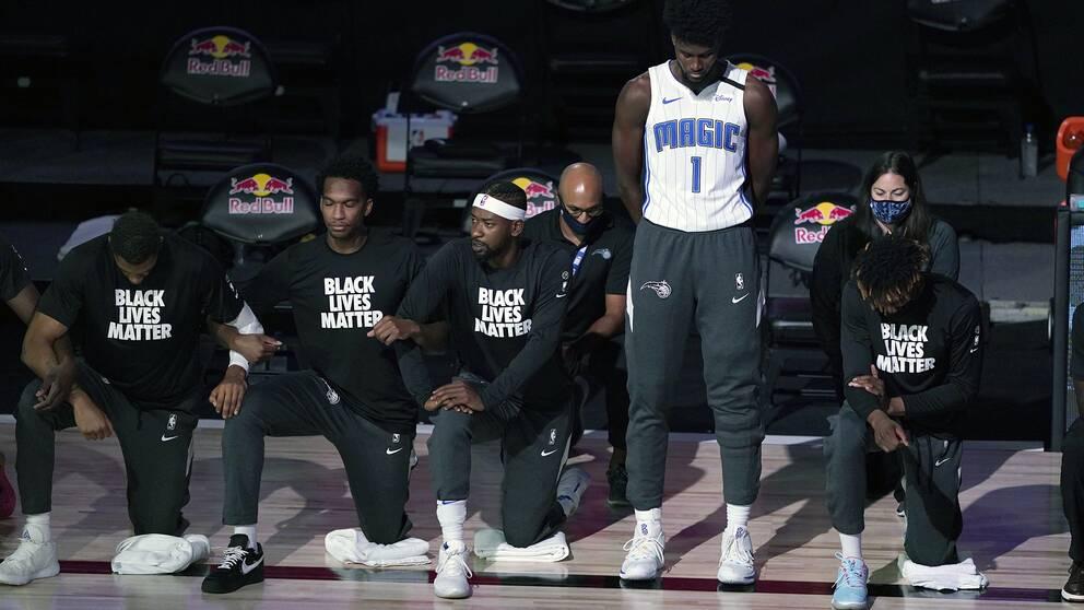 Orlando Magics Jonathan Isaac valde att inte delta i Black lives matter-protesten.