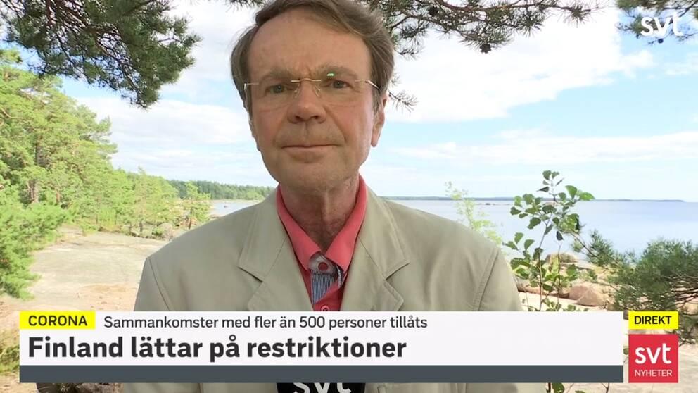 Hasse Svens, SVT:s korrespondent i Finland.