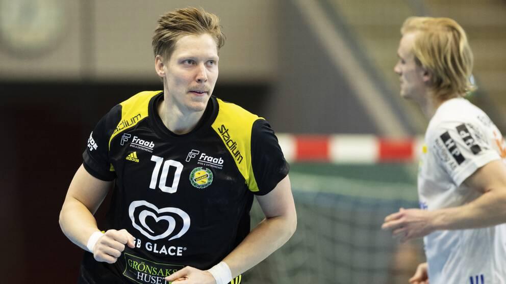Christoffer Brännberger under match februari 2020
