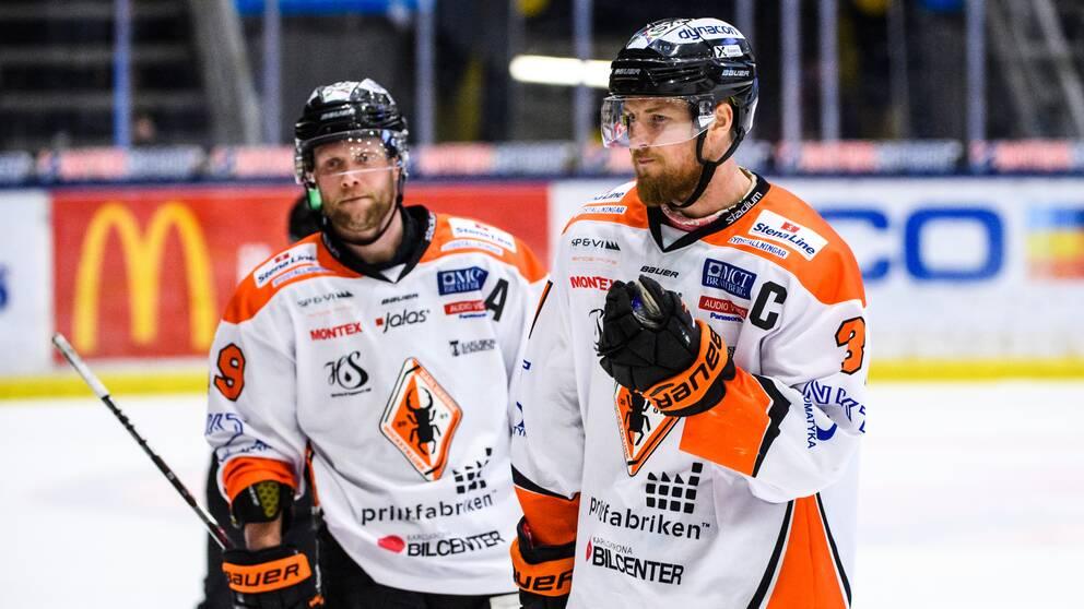 Karlskrona flyttas ned från Hockeyallsvenskan.