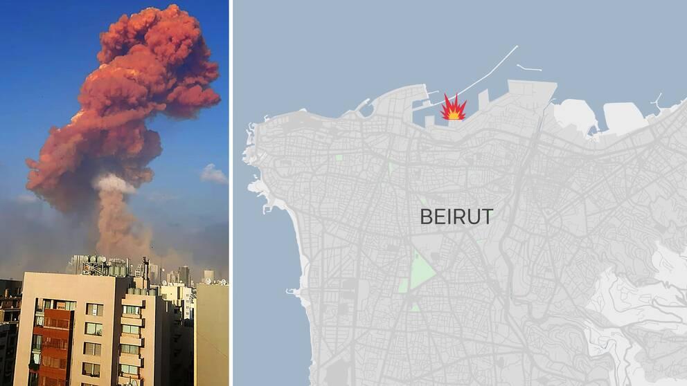 Karta över Beirut