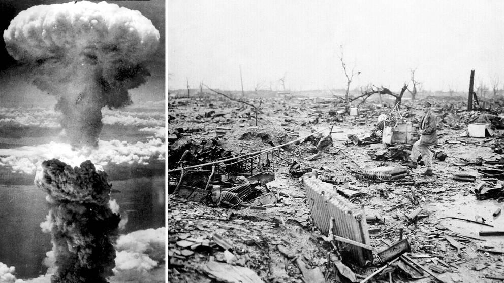 Atombomben över Hiroshima 1945.