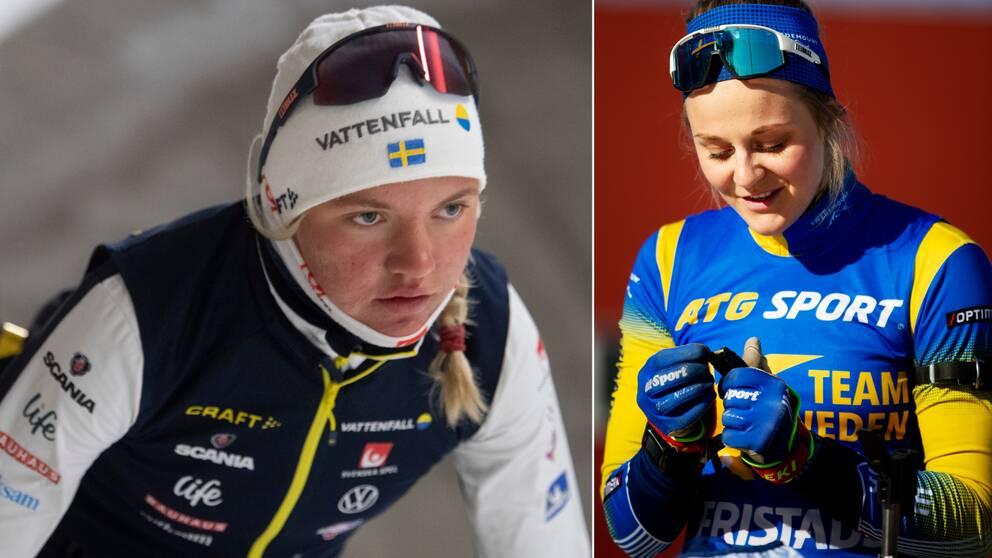 Linn Svahn lovar att hon inte kommer göra som Stina Nilsson och byta till skidskytte.
