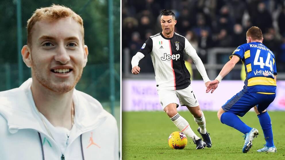 Dejan Kulusevski kommer att bli lagkamrat med superstjärnan Cristiano Ronaldo nästa säsong. Men de har redan mötts på planen.