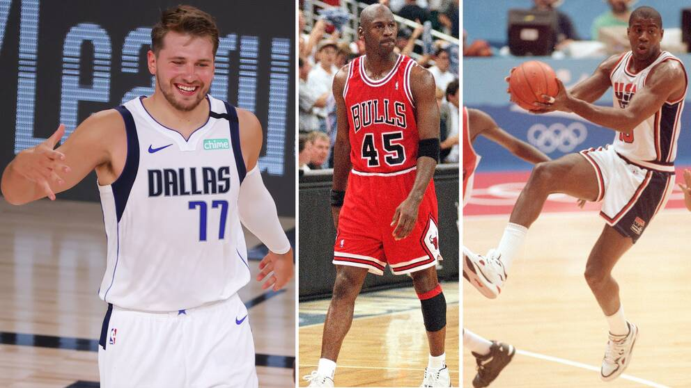 Luka Doncic tog i natt över rekord från Michael Jordan och Magic Johnson.