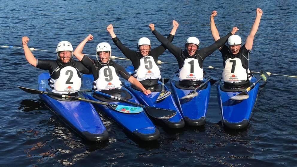 Luleå kanotpoloförenings damer sitt tionde SM guld i kanotpolo