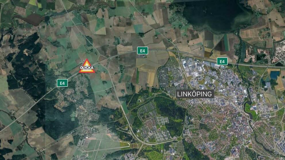 trafikolycka Linköping E4